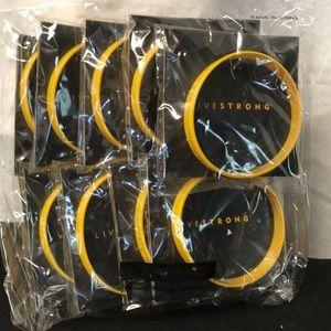 Nike livestrong wrist bracelets set of 10 Sz S-M